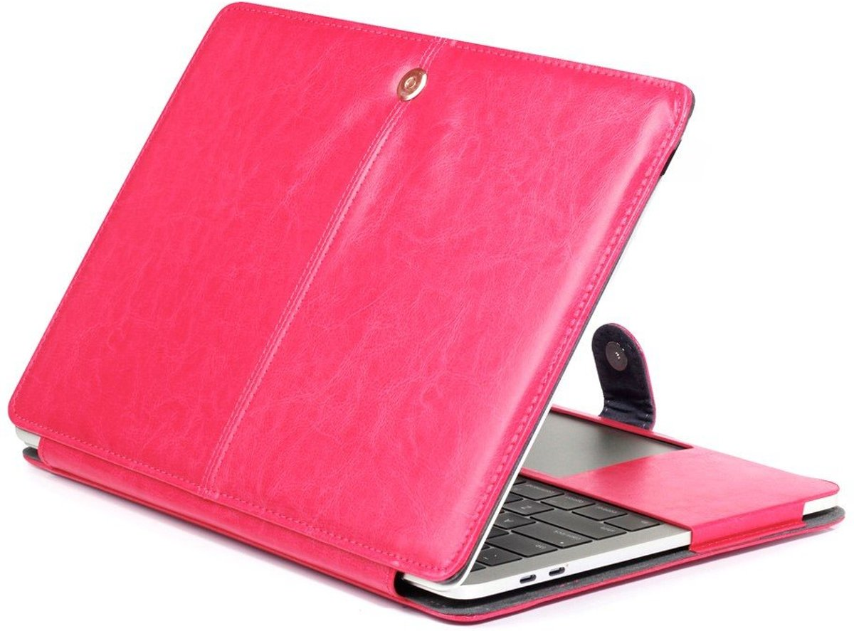 Shop4 - MacBook 13 inch Pro (2017) Hoes - Book Cover Cabello Roze