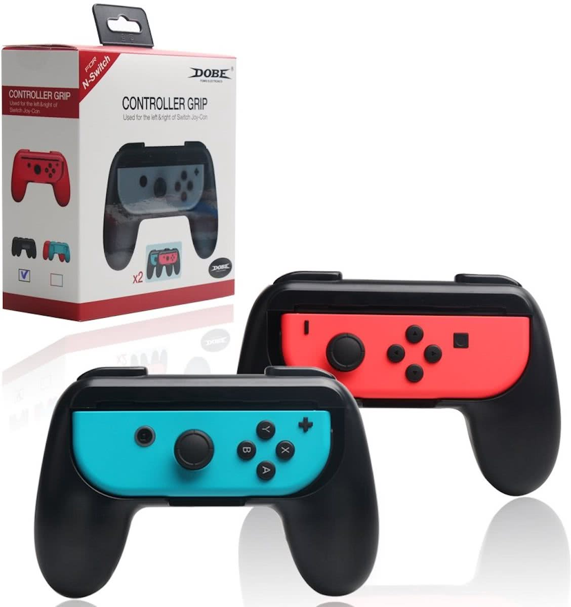 - Nintendo Switch - Joy-Con Controller Grip Set (2 stuks) Zwart