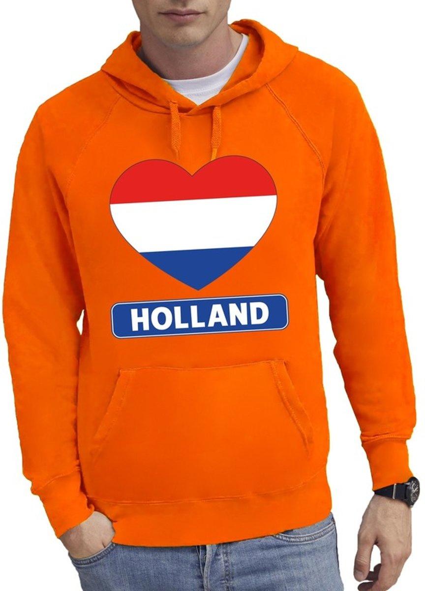 Oranje Holland hart vlag hoodie ...