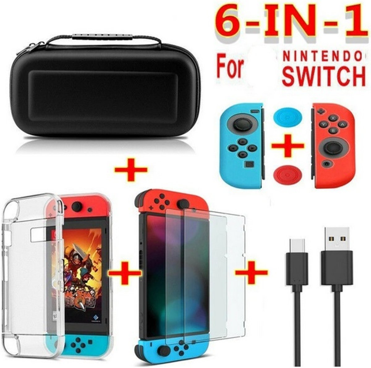 Nintendo Switch 6in1 pakket zwart