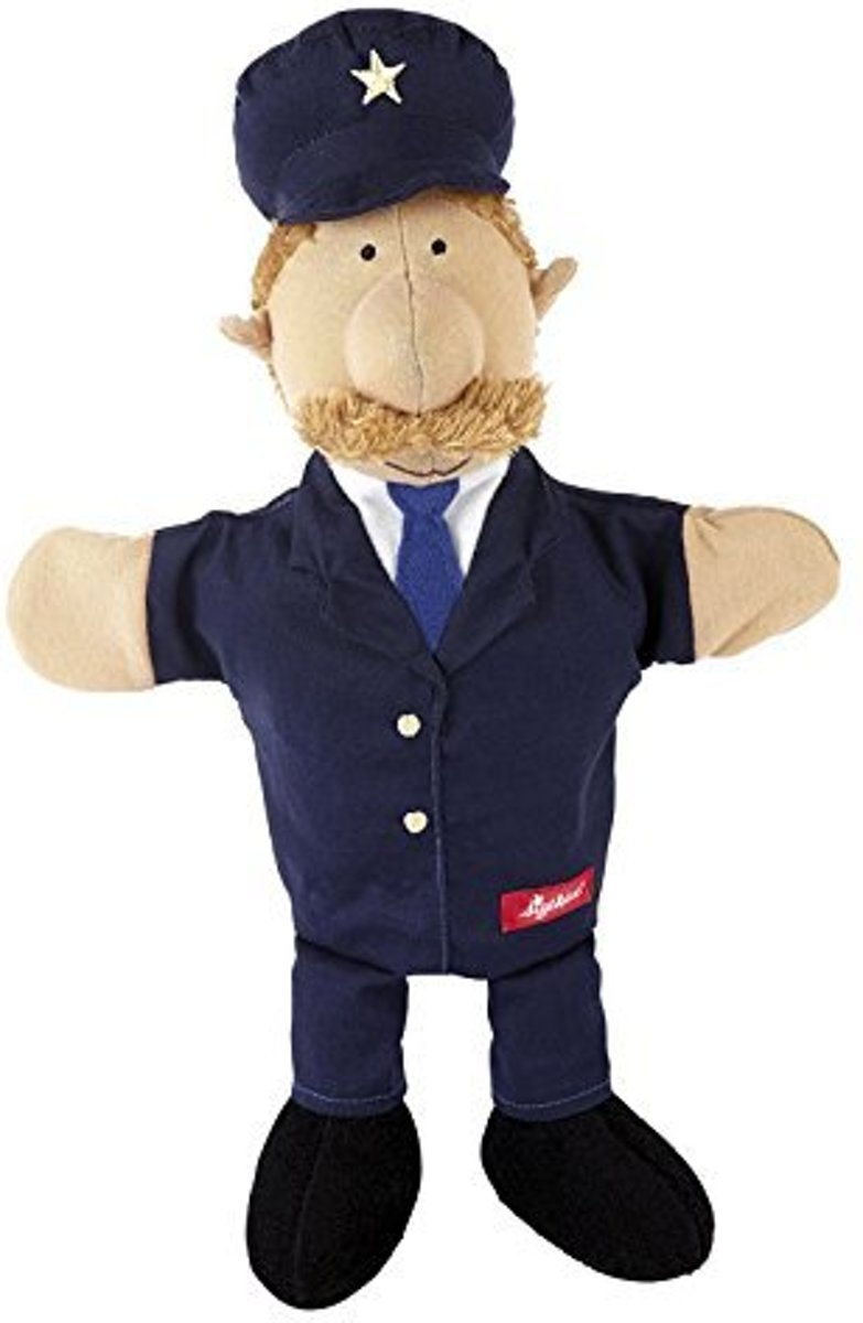 Speelgoed | Plush - Hand Puppet Policeman. My Little Theatre