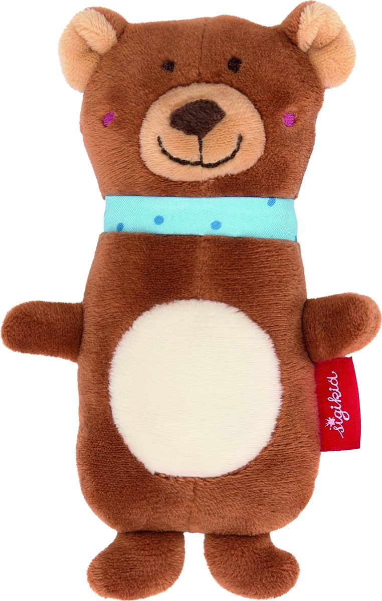 sigikid Grasp toy squeaker bear, Red Stars 42316