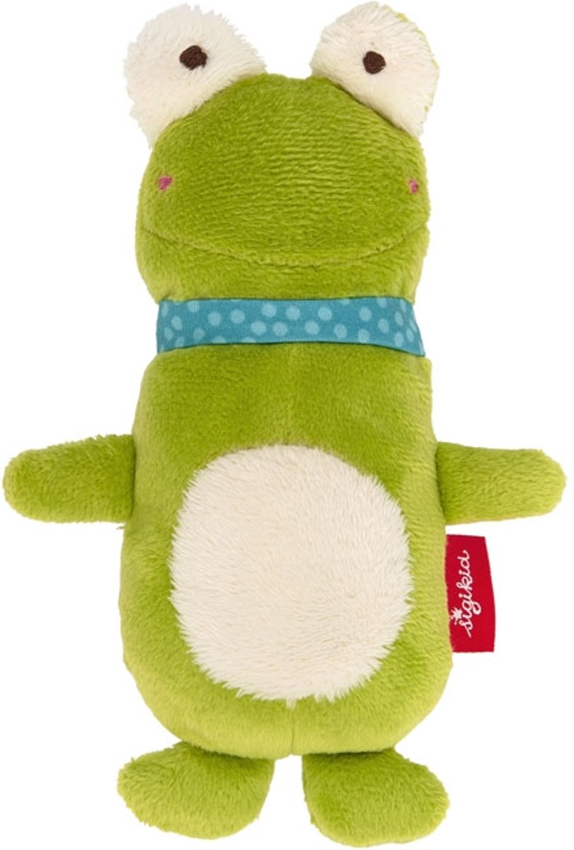 sigikid Grasp toy squeaker frog, Red Stars 42278