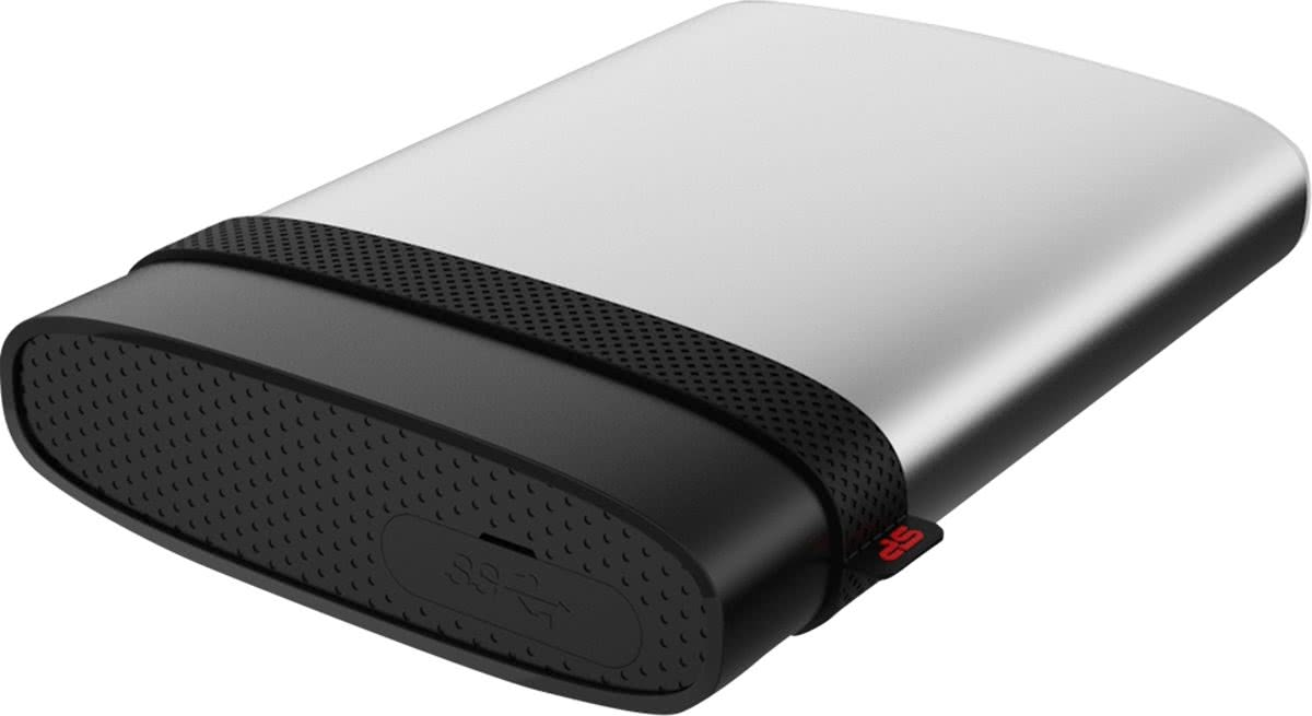 Silicon Power 1TB Armor A85S 1000GB Zwart, Zilver externe harde schijf