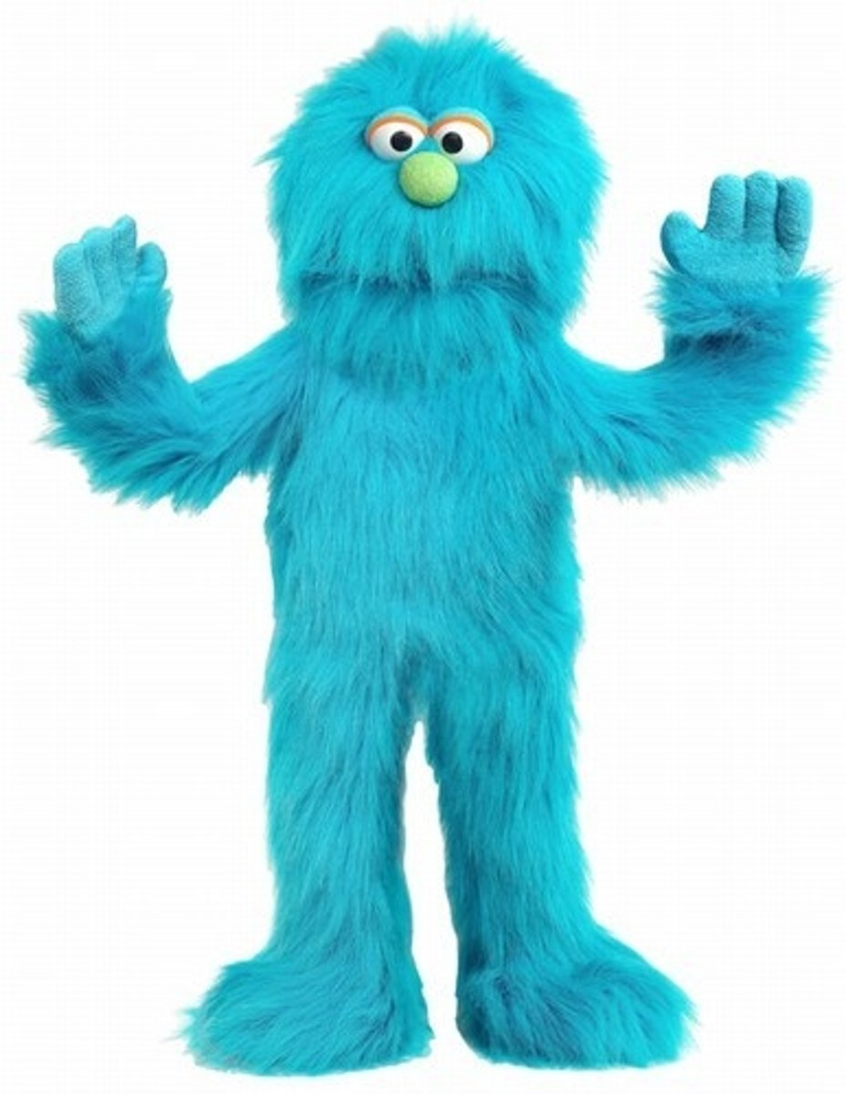 Blauw Monster Sillypuppets