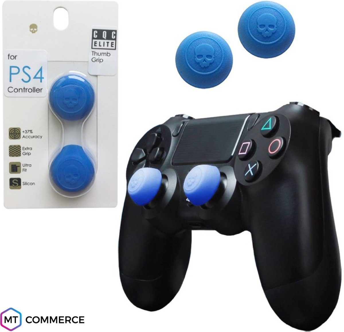 CQC Elite thumbsticks voor PS4 - PlayStation Controller Thumb Grips - Blauw