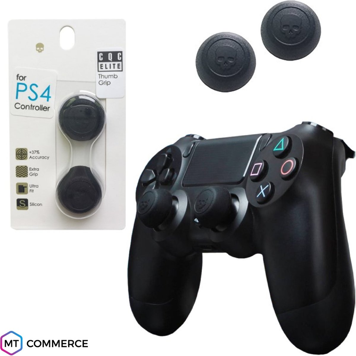 CQC Elite thumbsticks voor PS4 - PlayStation Controller Thumb Grips - Zwart