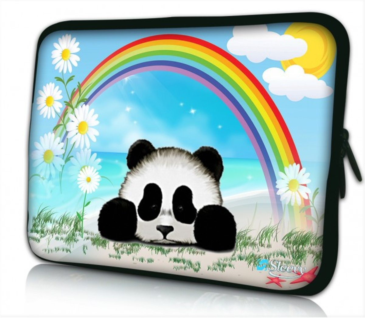 Laptophoes 11.6 inch pandabeertje - Sleevy