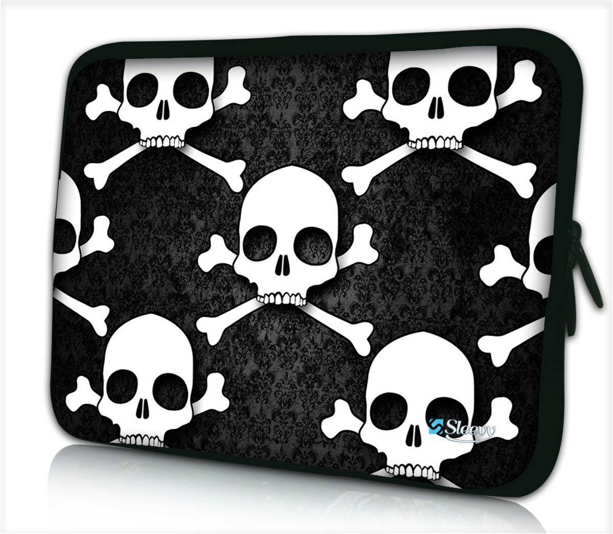 Laptophoes 14 inch doodskoppen - Sleevy - Laptop sleeve - Macbook hoes - beschermhoes