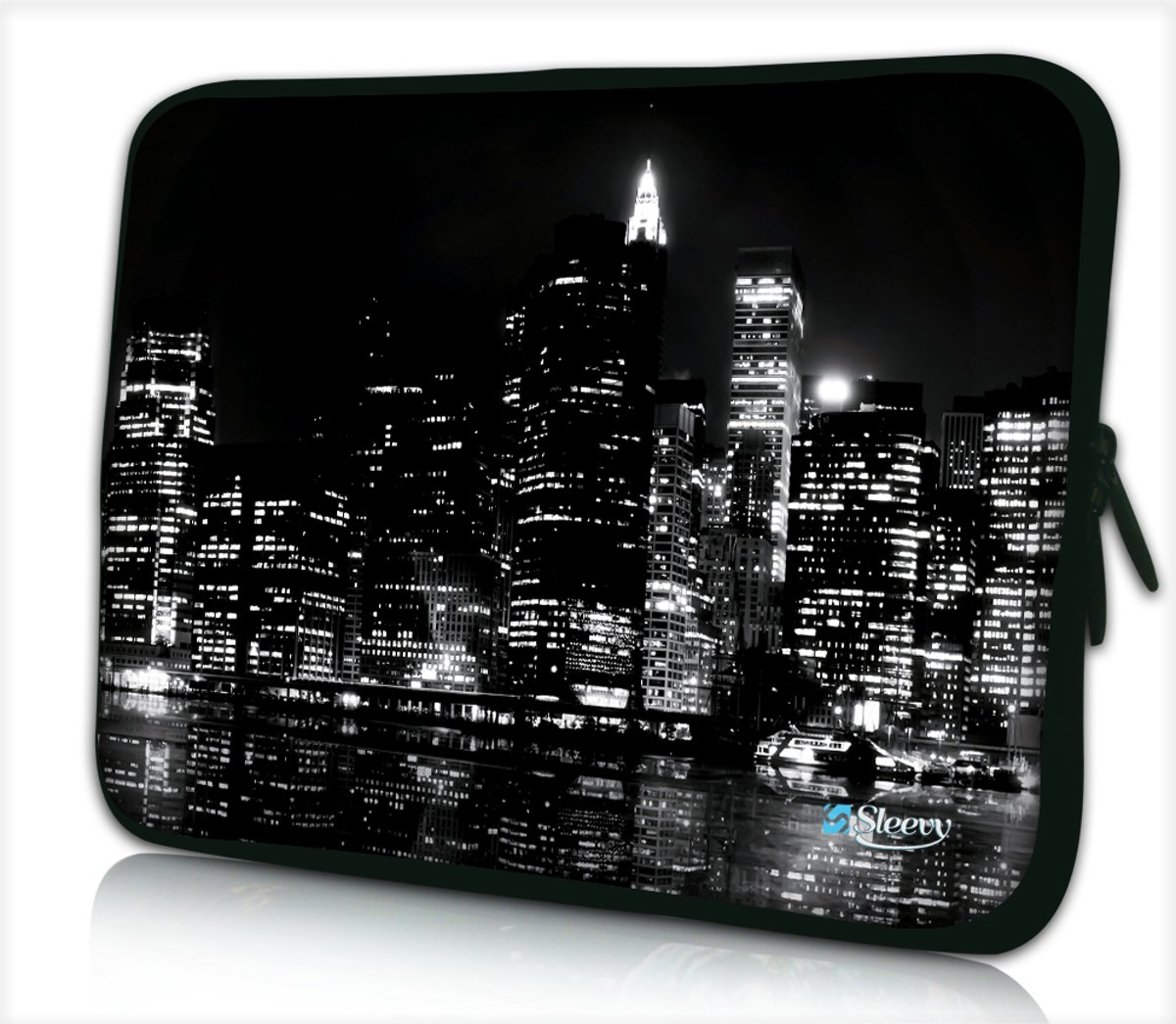 Laptophoes 15,6 inch New York zwart - Sleevy - laptop sleeve