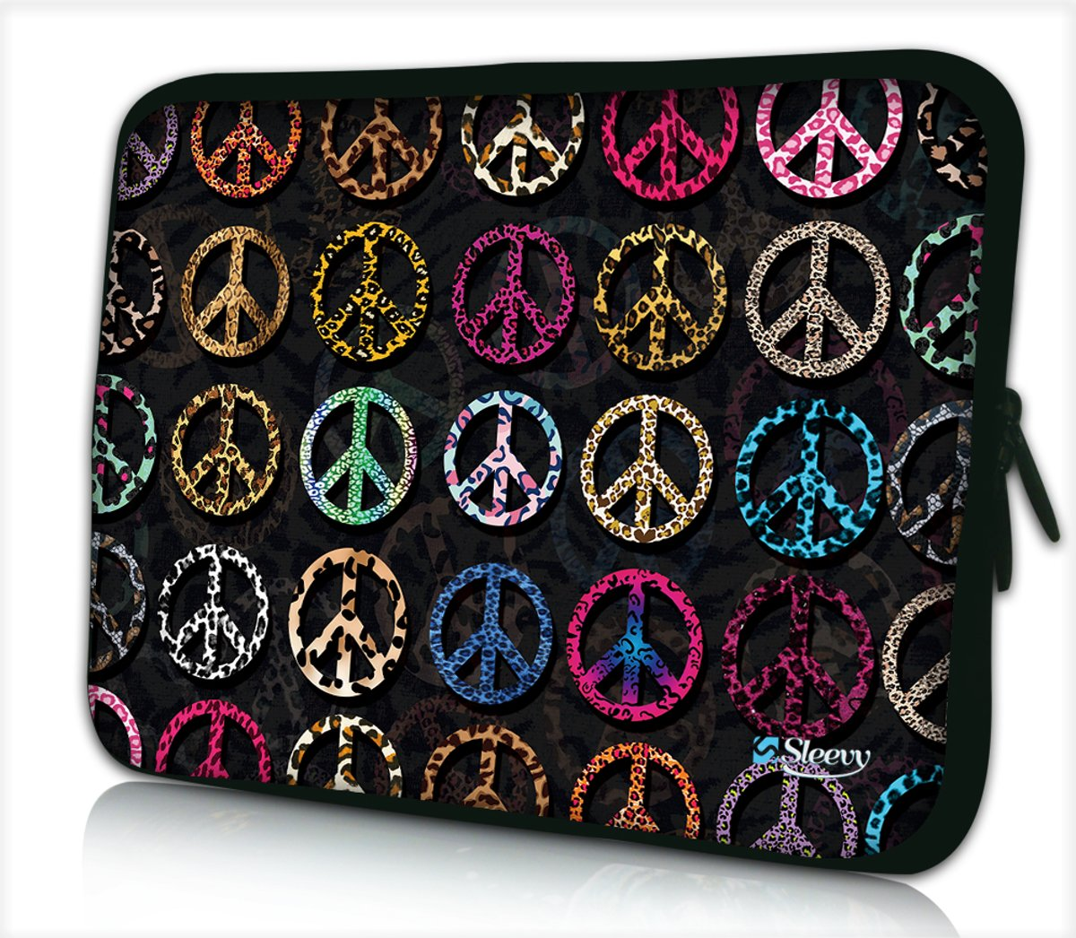 6dd81aa14ce Laptophoes 15,6 inch peace patroon - Sleevy - 8719258039008