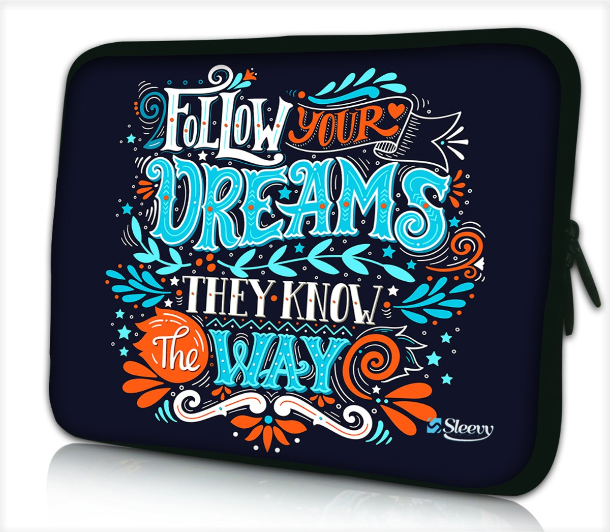 Laptophoes 17,3 inch dreams - Sleevy - Laptop sleeve - Macbook hoes - beschermhoes