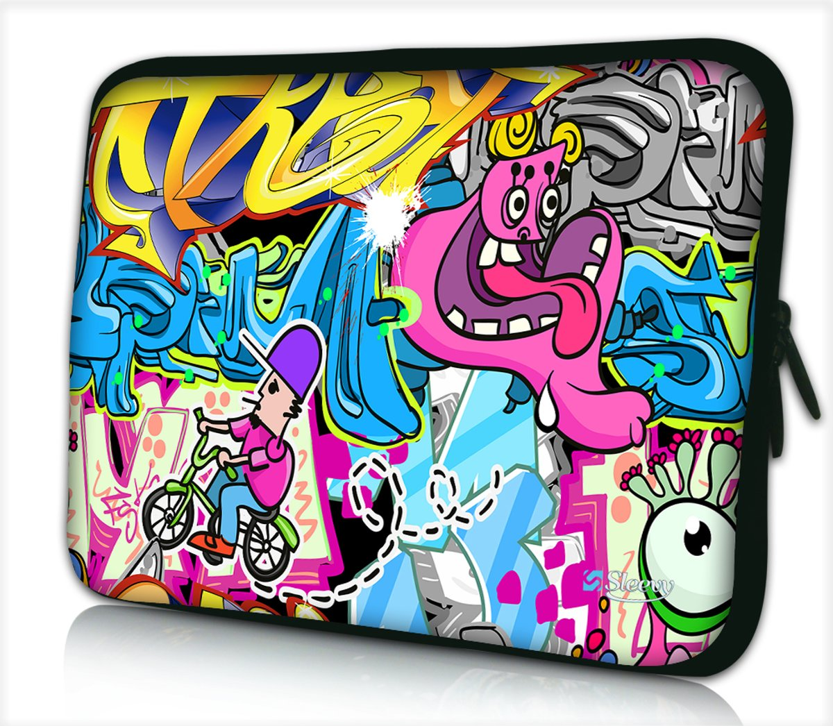 Laptophoes 17,3 inch hiphop cartoon - Sleevy - Laptop sleeve - Macbook hoes - beschermhoes