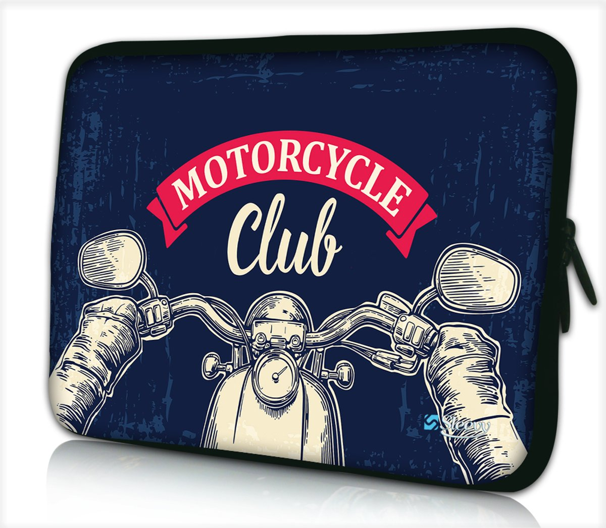 Laptophoes 17,3 inch motorcycle club - Sleevy - Laptop sleeve - Macbook hoes - beschermhoes