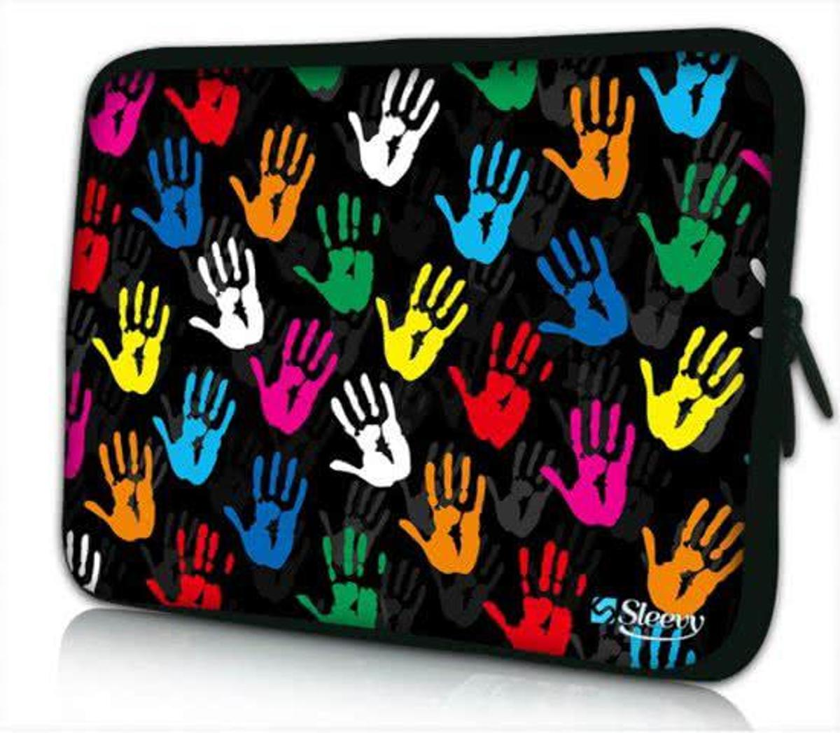 Sleevy 10 laptop/tablet hoes gekleurde handjes - tabletsleeve - tablet sleeve - ipad sleeve