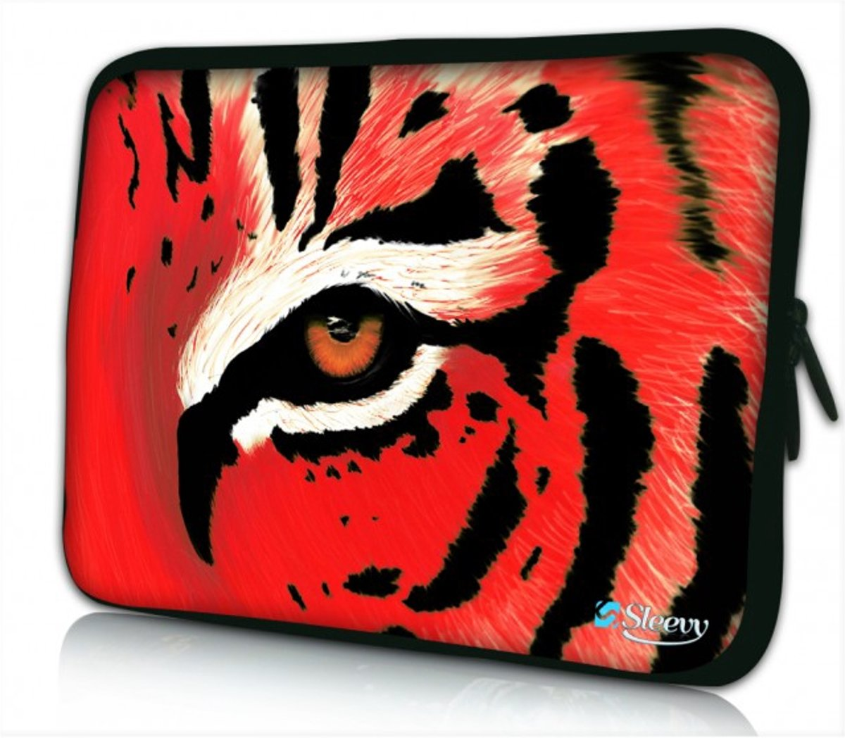 Sleevy 10 laptop/tablet hoes rode tijger - tabletsleeve - tablet sleeve - ipad sleeve