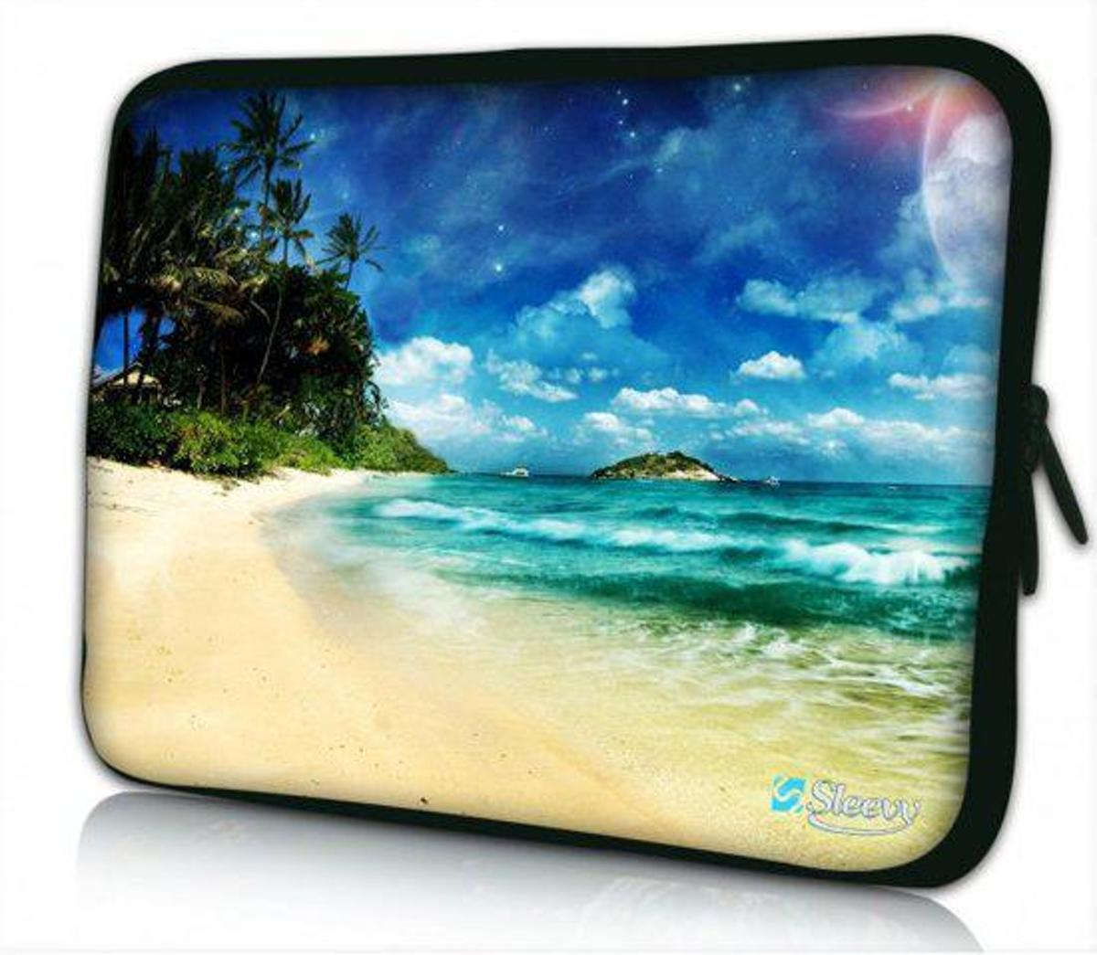 Sleevy 10 laptop/tablet hoes tropisch eiland - tabletsleeve - tablet sleeve - ipad sleeve