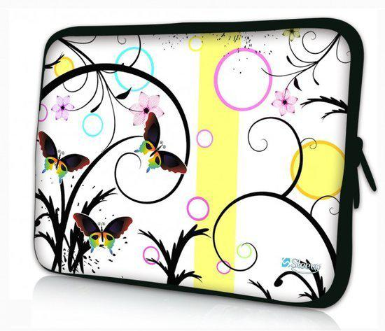 Sleevy 11.6 inch laptophoes artistiek vlinder design