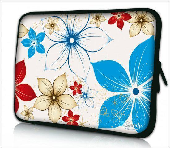 Sleevy 13,3 inch laptophoes of macbookhoes zomerse bloemen