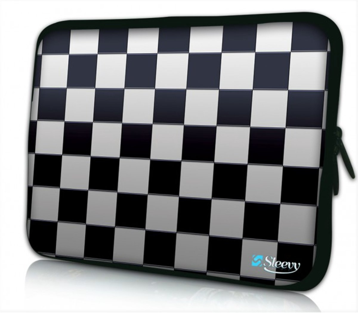 Sleevy 13.3 laptophoes schaakbord - Laptop sleeve - Macbook hoes - beschermhoes