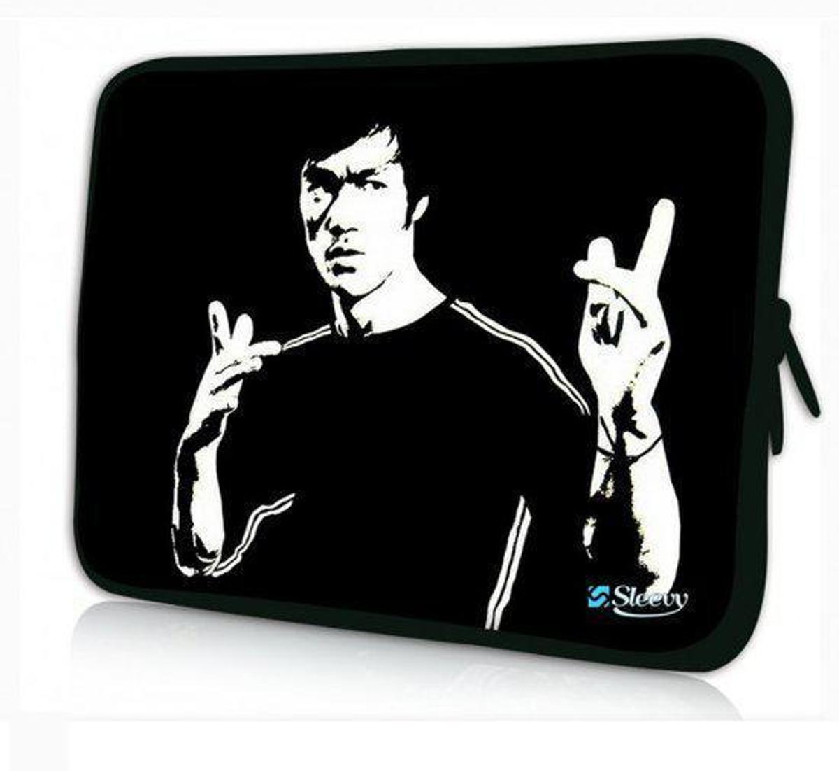 Sleevy 15,6 inch laptophoes Bruce Lee - Laptop sleeve - Macbook hoes - beschermhoes
