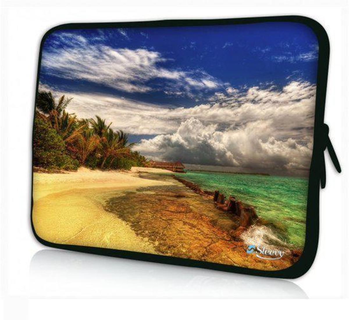 Sleevy 15,6 inch laptophoes strand design - Laptop sleeve - Macbook hoes - beschermhoes