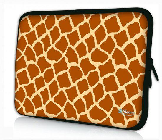 Sleevy 15.6 inch laptophoes giraffe print