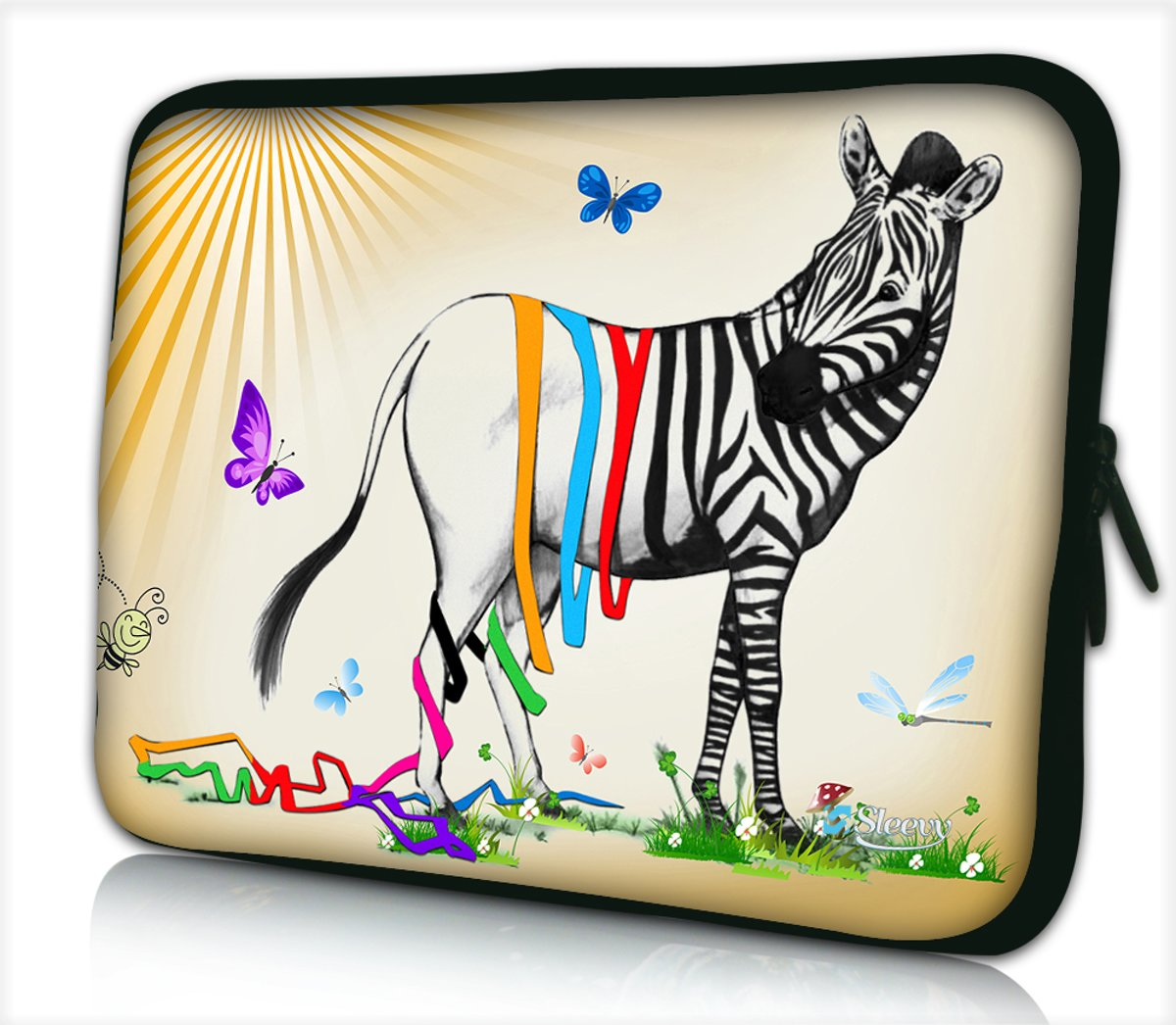 Tablet hoes / laptophoes 10,1 inch zebra grappig - Sleevy - laptop sleeve - tablet sleeve