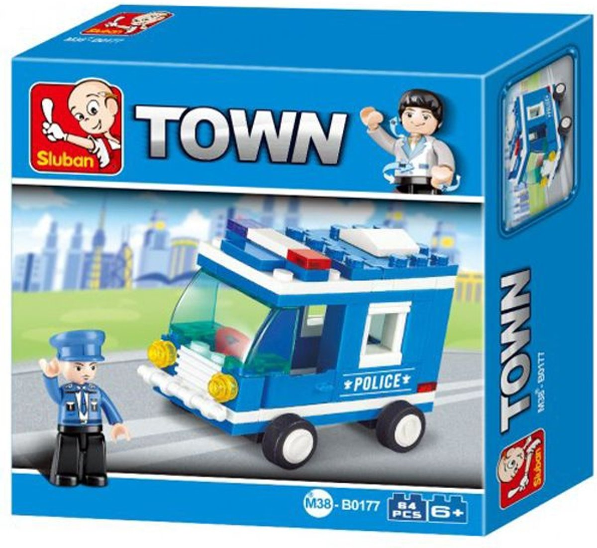 Sluban M38-B0177 Building Blocks Police Series Police Van