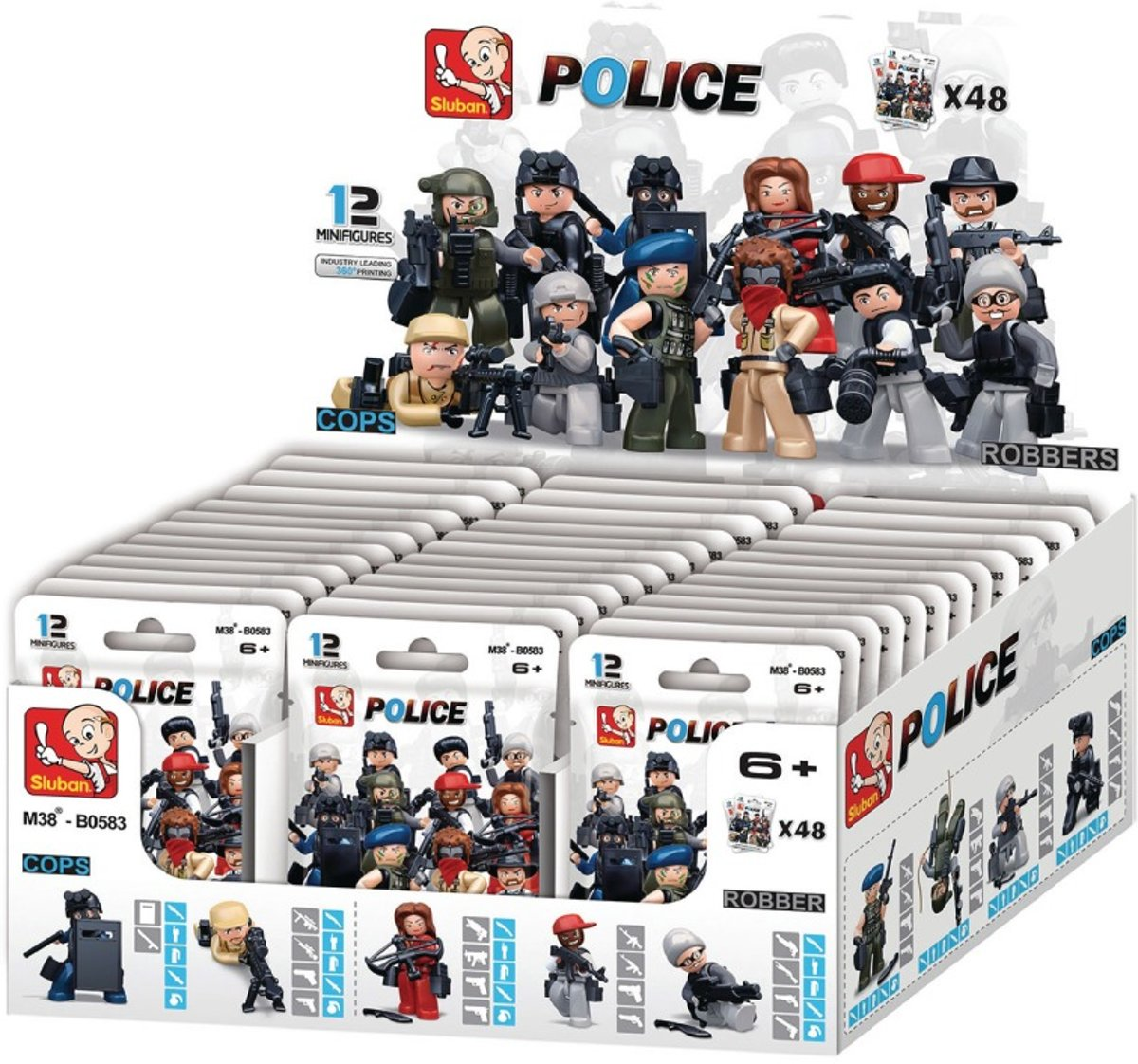 M38-B0583 Police Minifigures