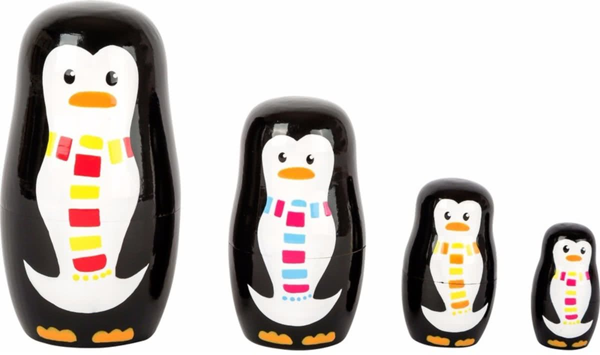 Kinderkamer decoratie pinguis matroesjka set