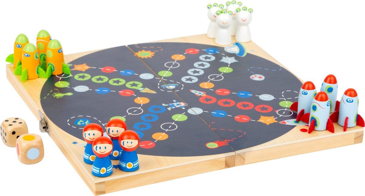 Small Foot Kinderspel Ludo - Space Junior 24 X 24 Cm 19-delig