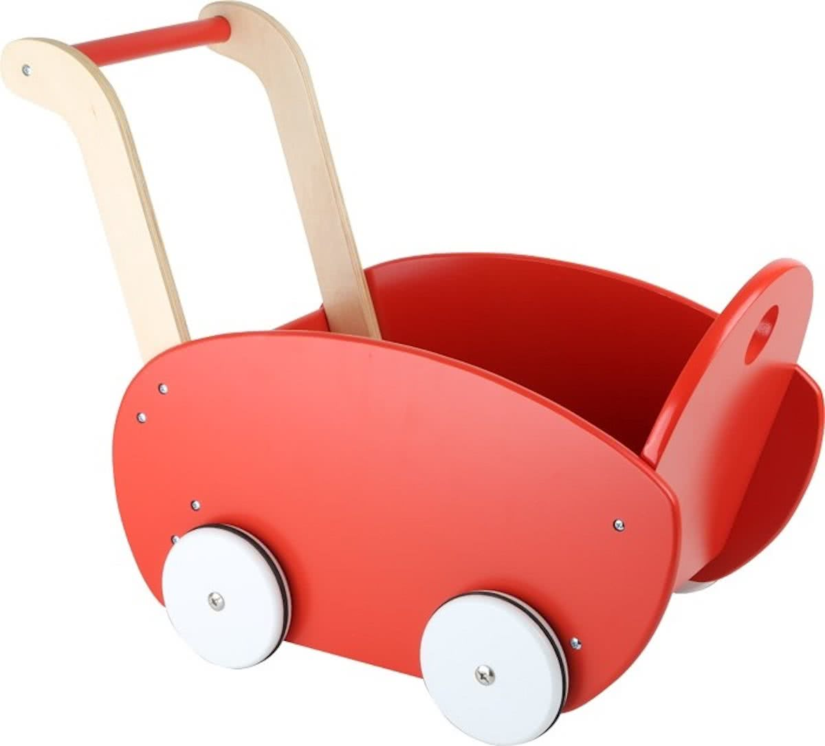Small Foot Poppenwagen Rood