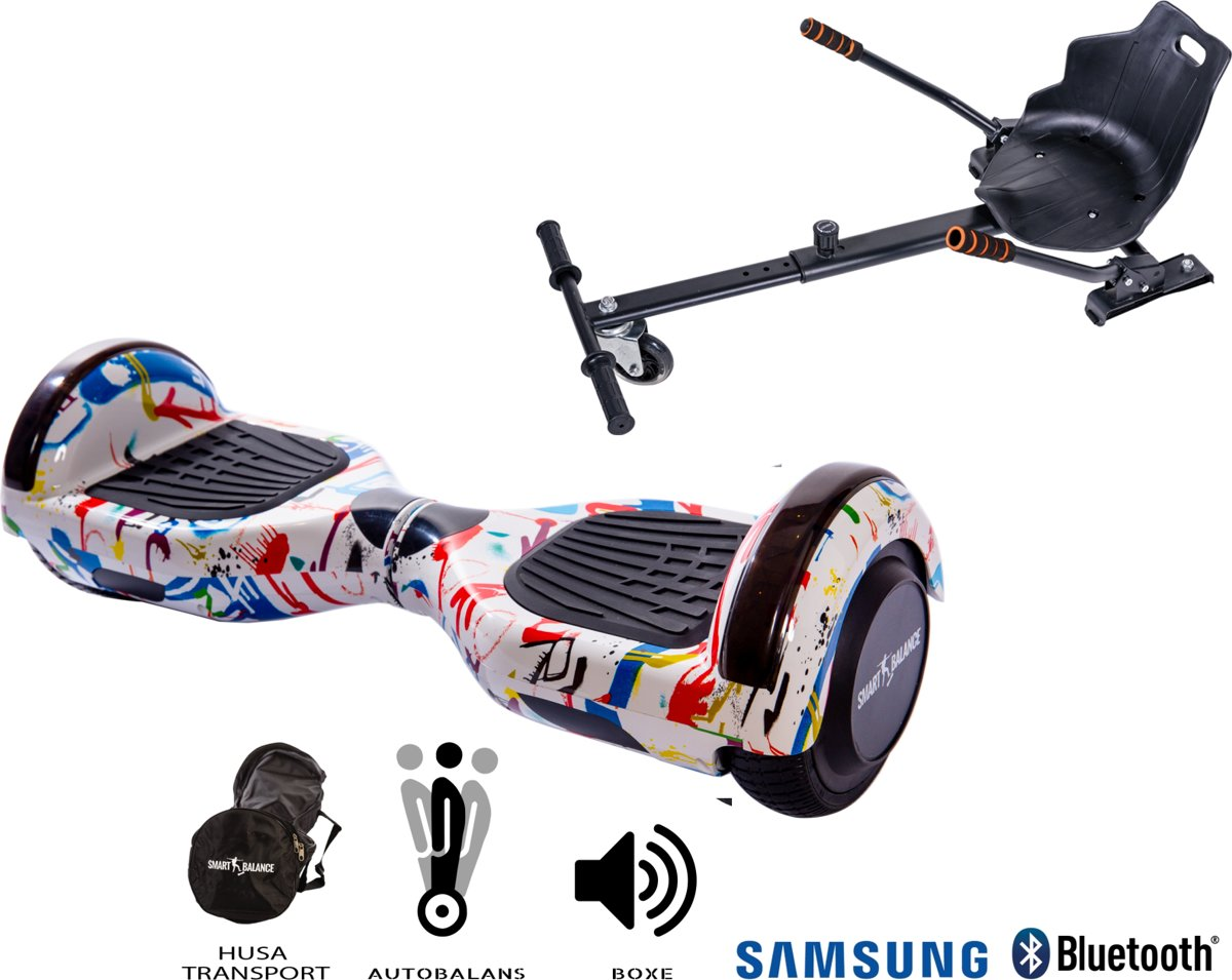 Paquet Hoverboard Regular Splash + Hoverseat - 6.5 pouces, Bluetooth