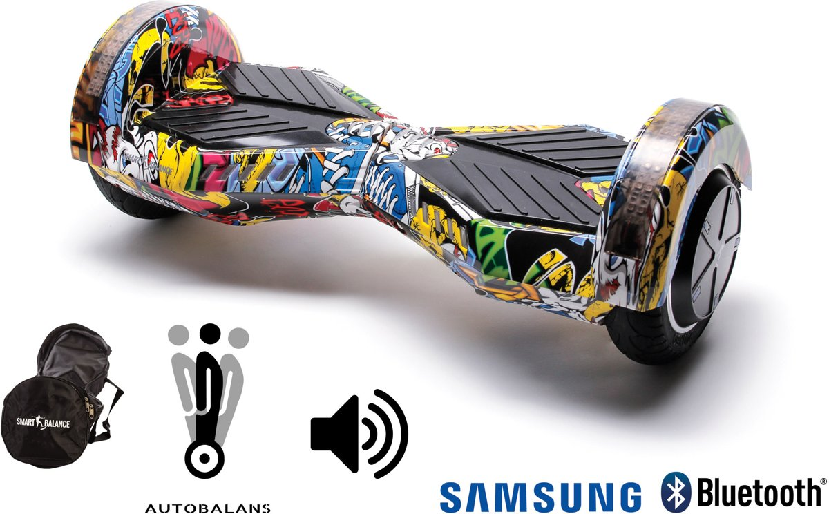 SMART BALANCE Hoverboard Transformers HipHop - 8 pouces, Bluetooth