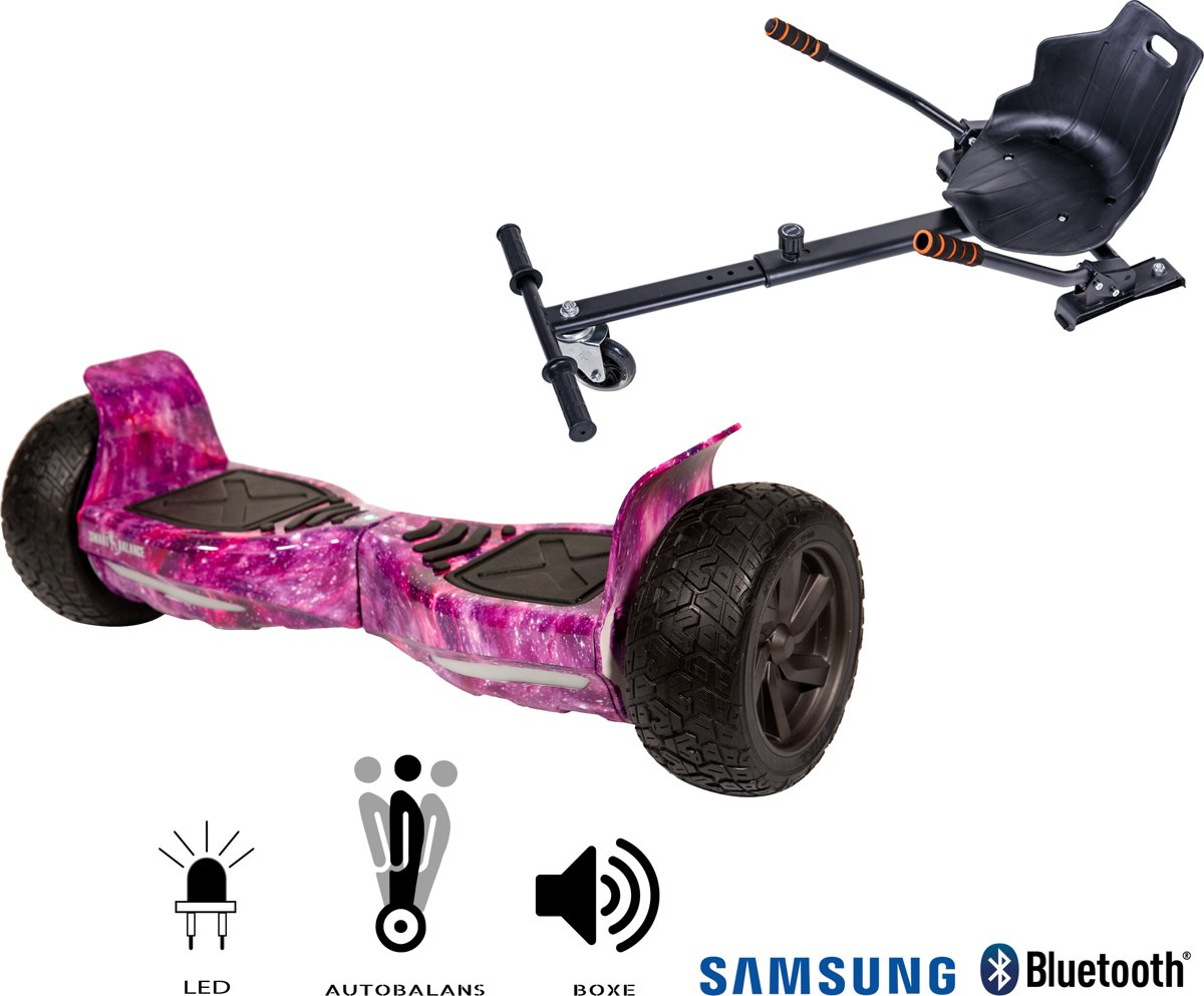 SMART BALANCE Paquet Hoverboard Hummer Galaxy CU+ Hoverseat - 8.5 pouces, Bluetooth