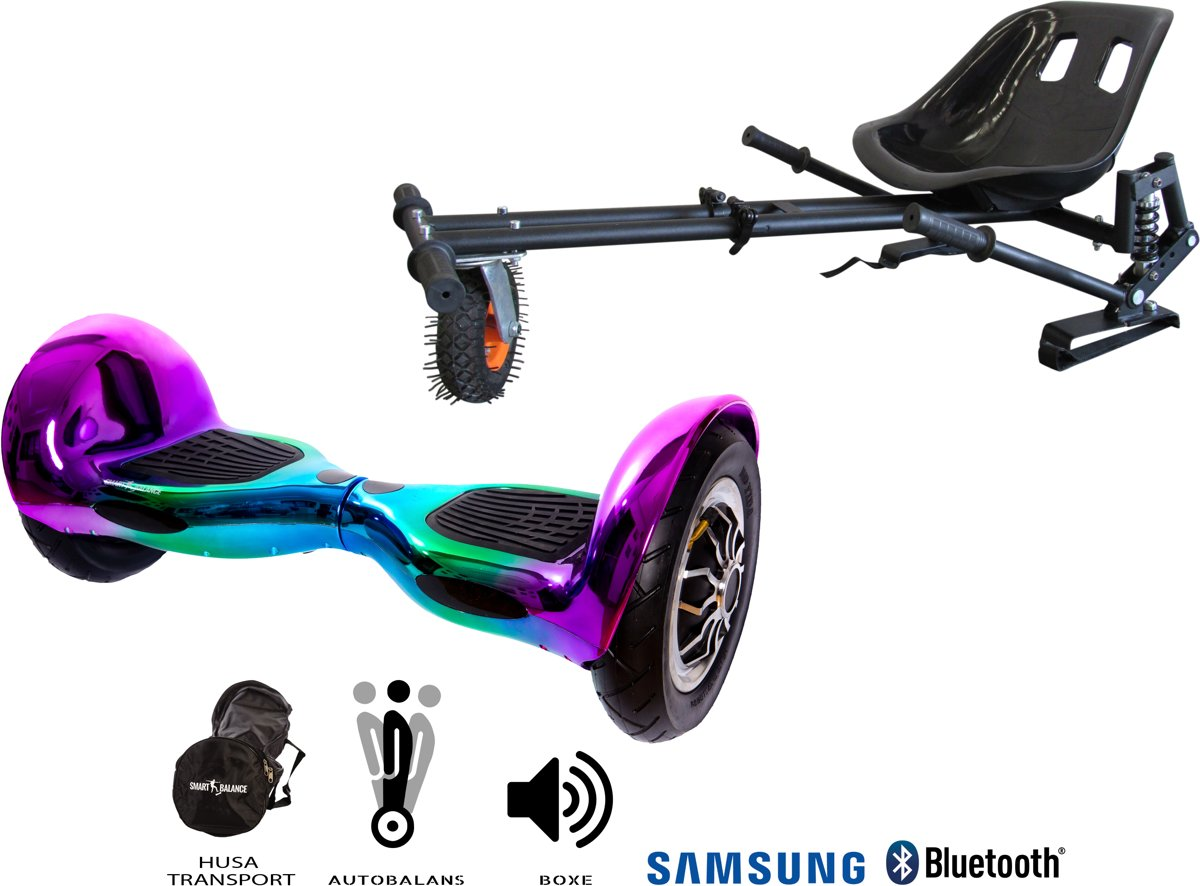 SMART BALANCE Paquet Hoverboard OffRoad Dakota + Hoverseat avec suspensions - 10 pouces, Bluetooth