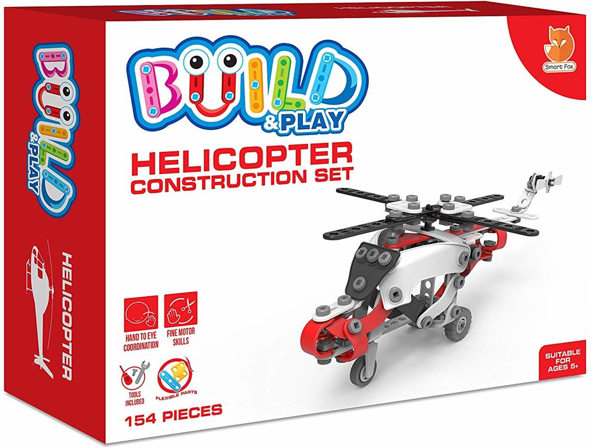 Build & Play Helicpter Construction Set - Helikopter Bouwset