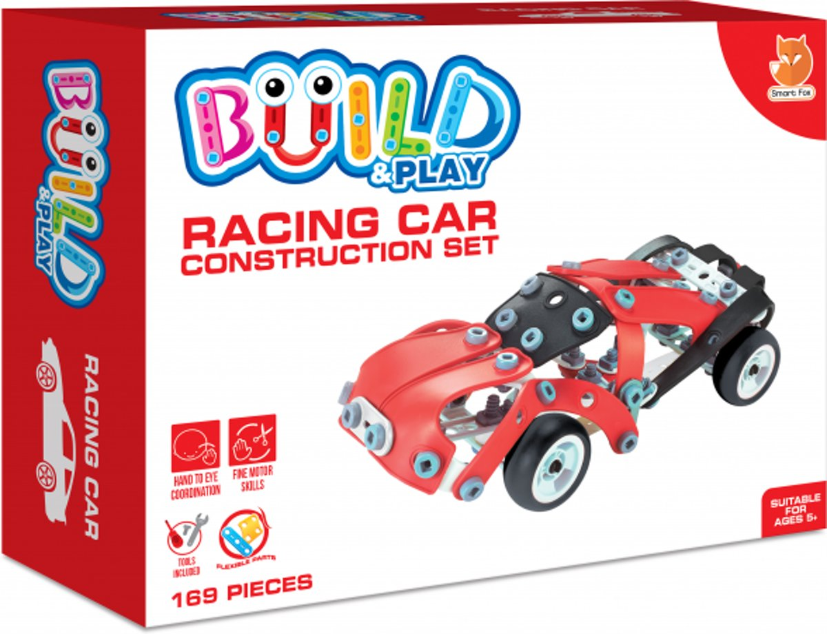 Build & Play Racing Car Construction Set - Race Auto Bouwset