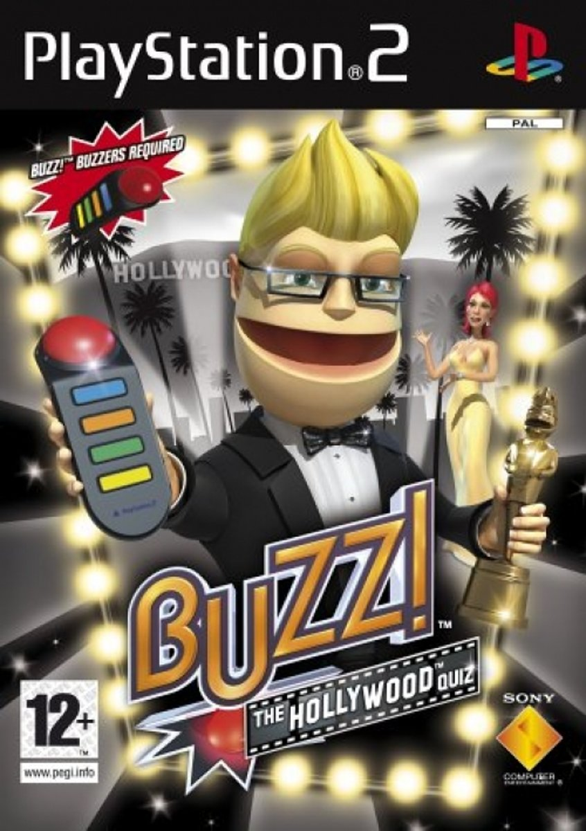 Buzz! The Hollywood Quiz no Buzzers (UK) (Solus) /PS2