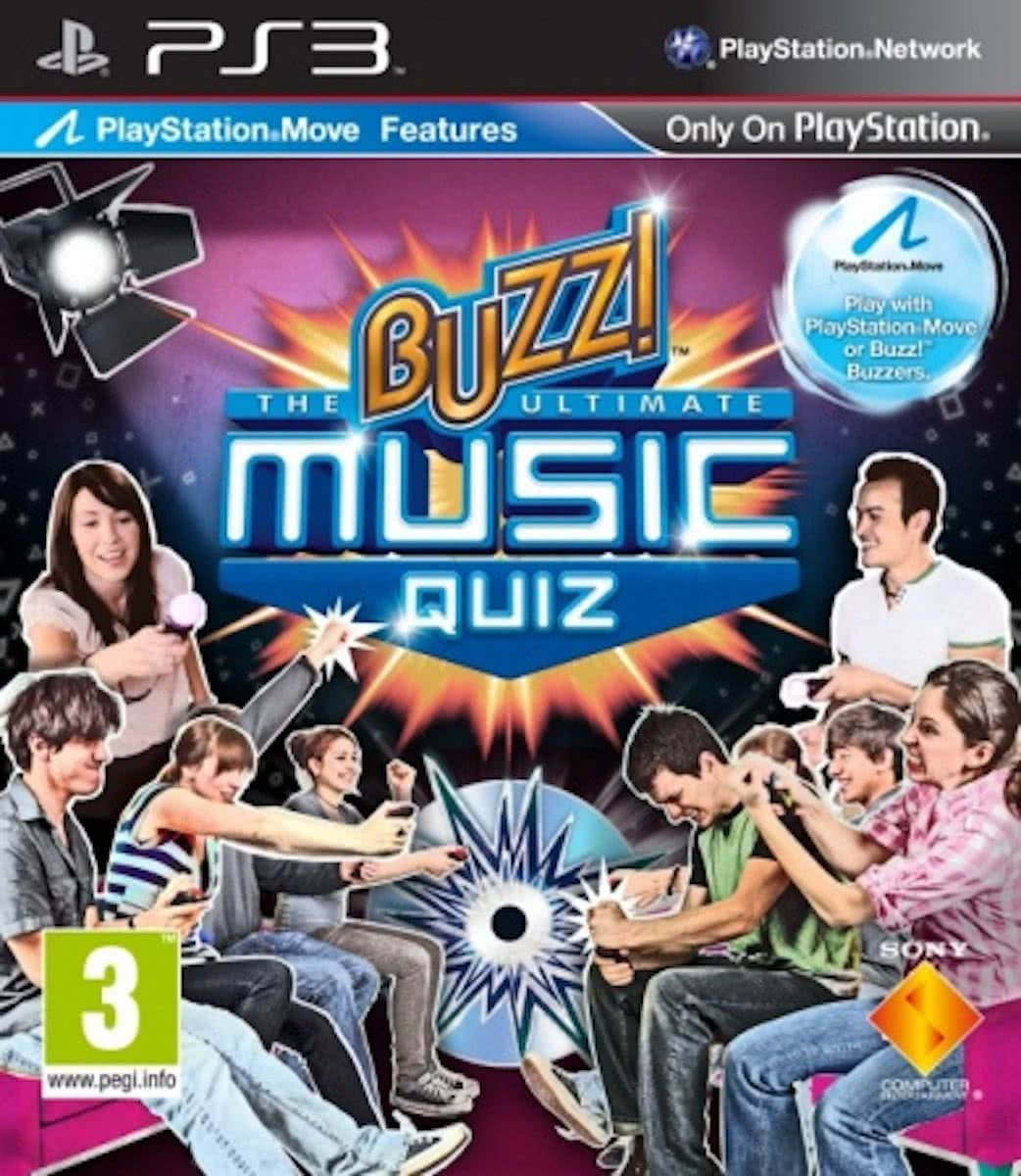 Buzz: The Ultimate Music Quiz + 4 Draadloze Buzzers