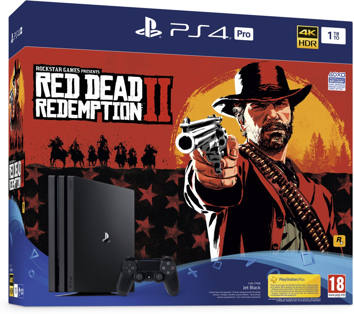 PS4 PRO 1TB + Red Dead Redemption 2