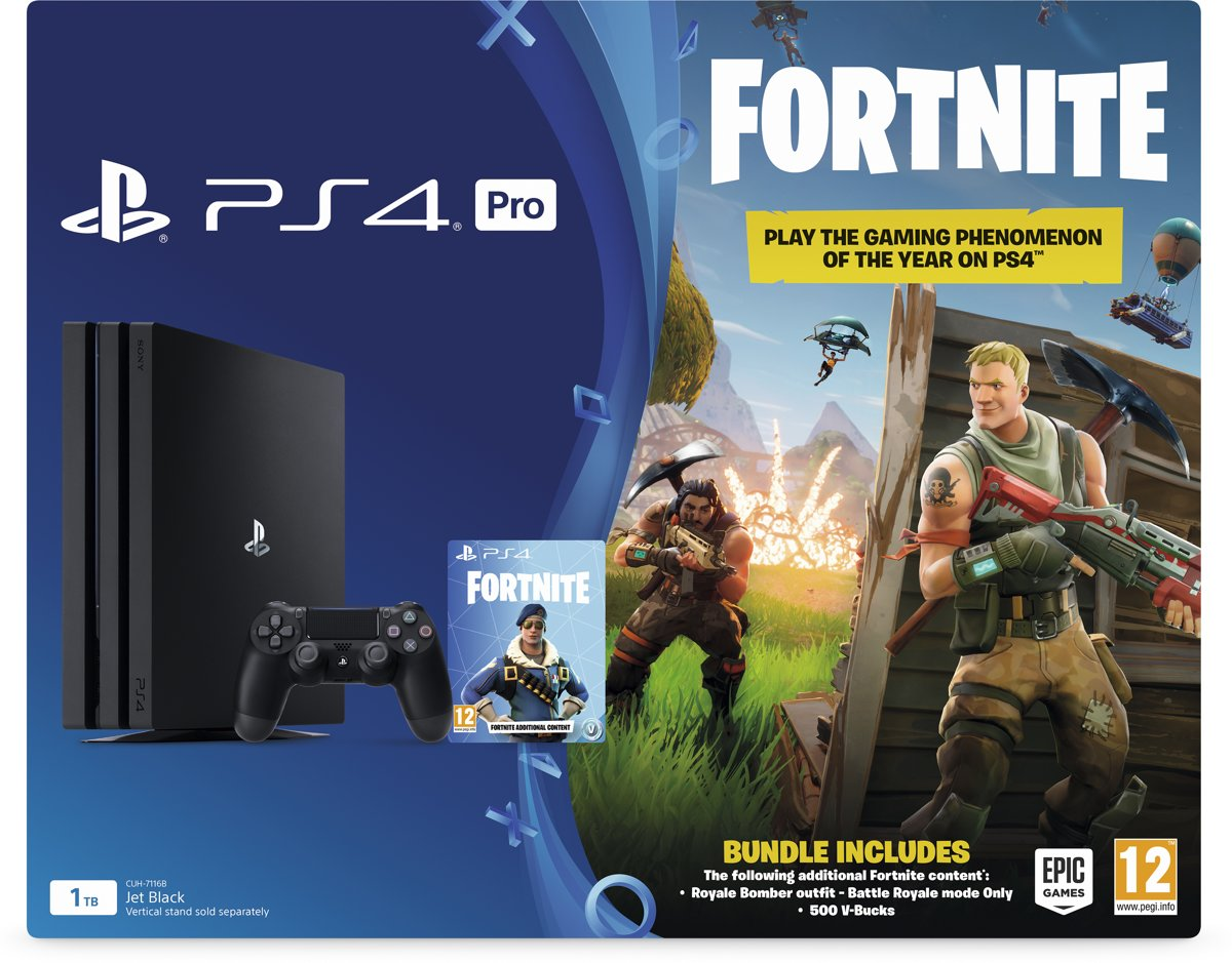 Sony PlayStation 4 Pro Fortnite Pack - 1 TB