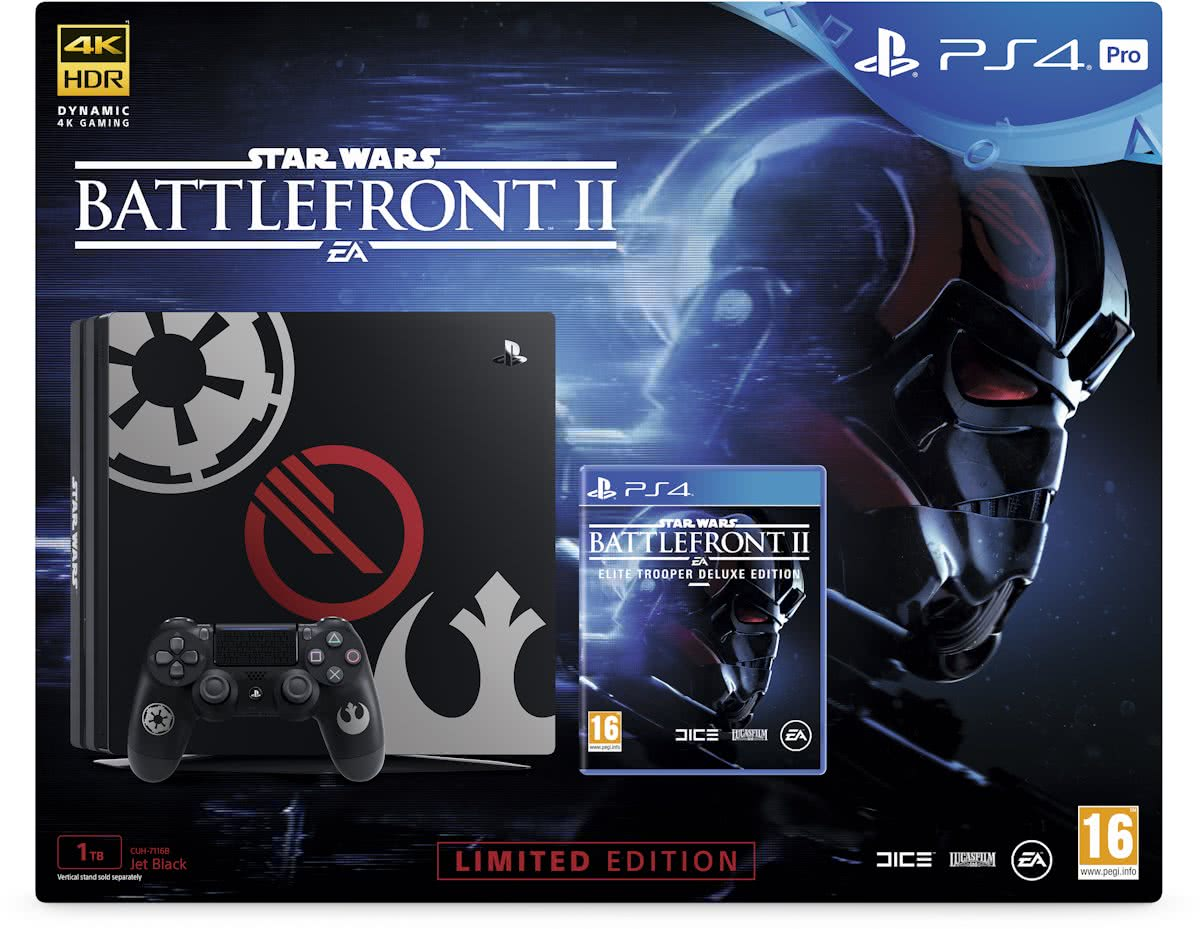 PlayStation 4 Pro Star Wars Battlefront II Deluxe Edition Console - 1TB - PS4