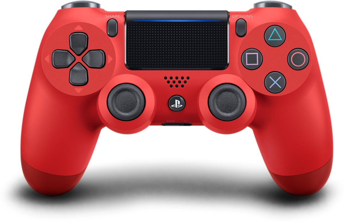 Sony PlayStation 4 Wireless Dualshock Controller V2 - Rood