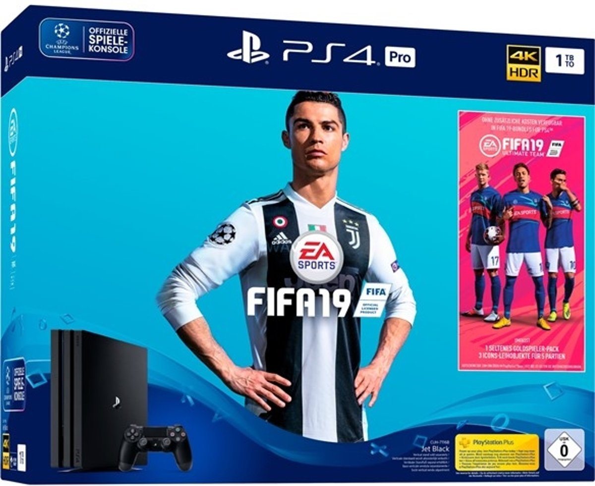 Playstation 4 Pro 1TB incl. FIFA 19