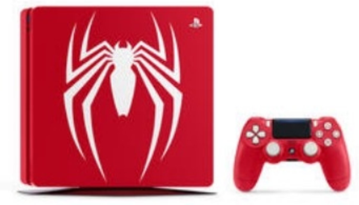 Playstation 4 Slim 1TB Limited Edition Spider-Man USK12