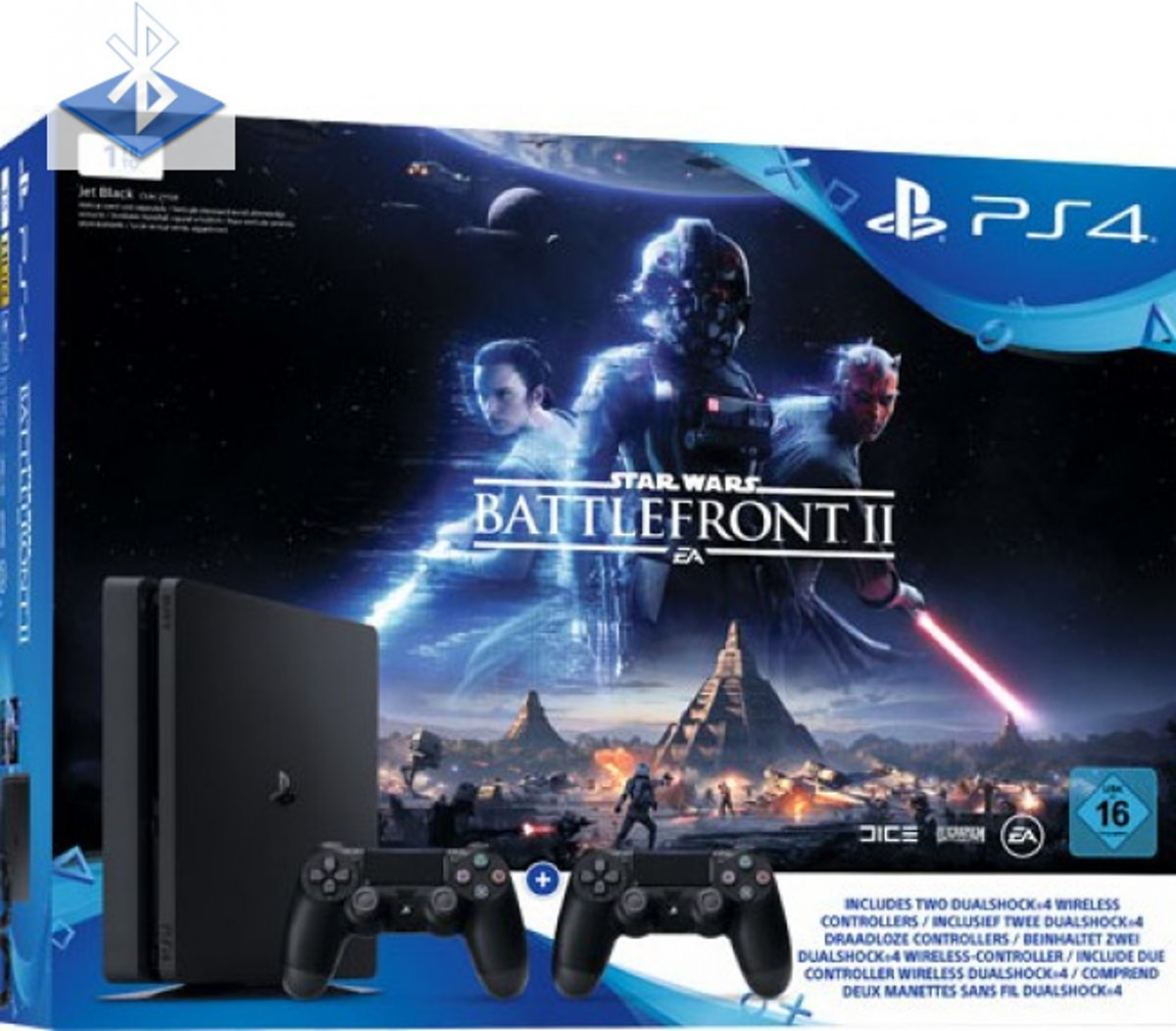 Sony Playstation 4 Slim 1TB incl. Star Wars Battlefront 2
