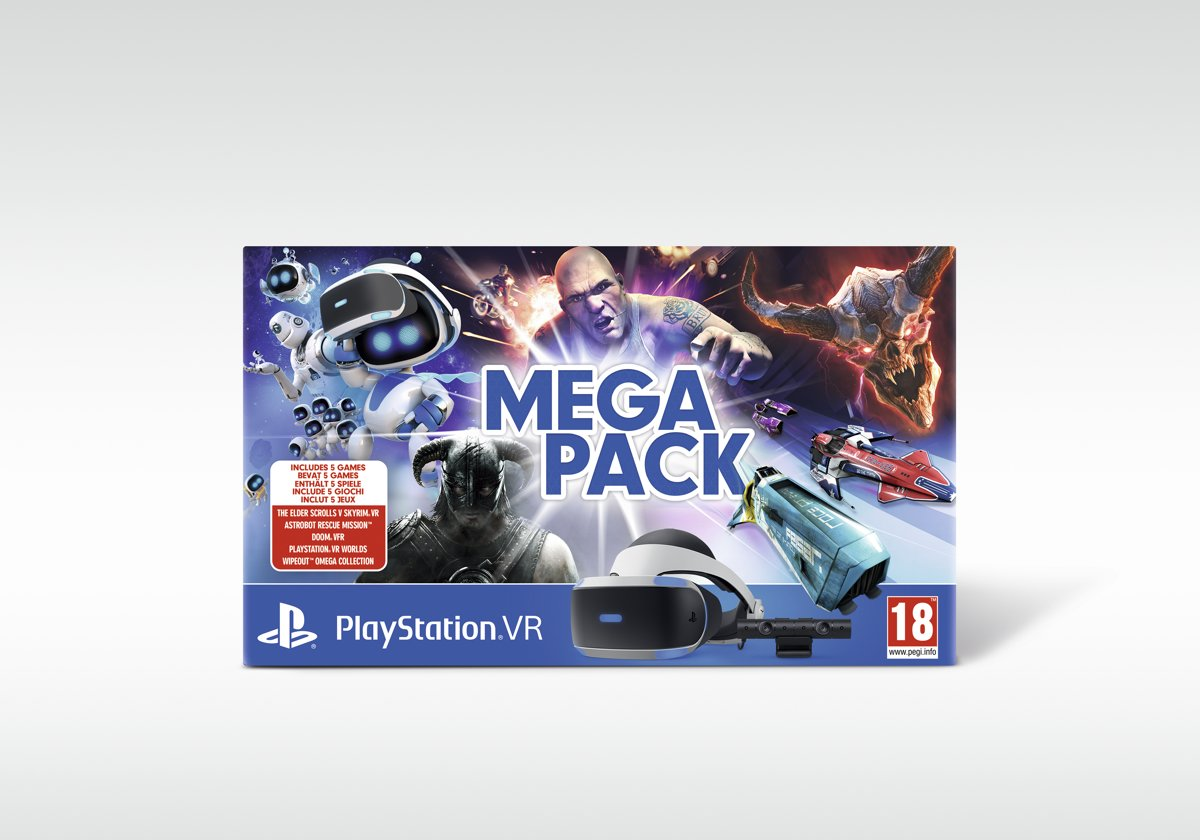 Sony Playstation VR Mega Pack + 5 games