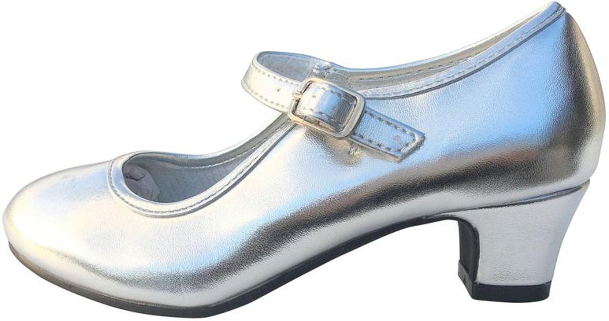d12fe489cb700f Spaanse schoenen - flamenco schoenen - zilver maat ...